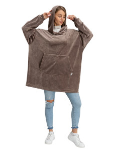 Blanket Hoodie Travel Cappuccino