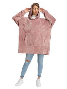 Blanket Hoodie Travel Dusty rose
